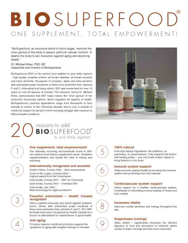 BIOSUPERFOOD BROCHURE